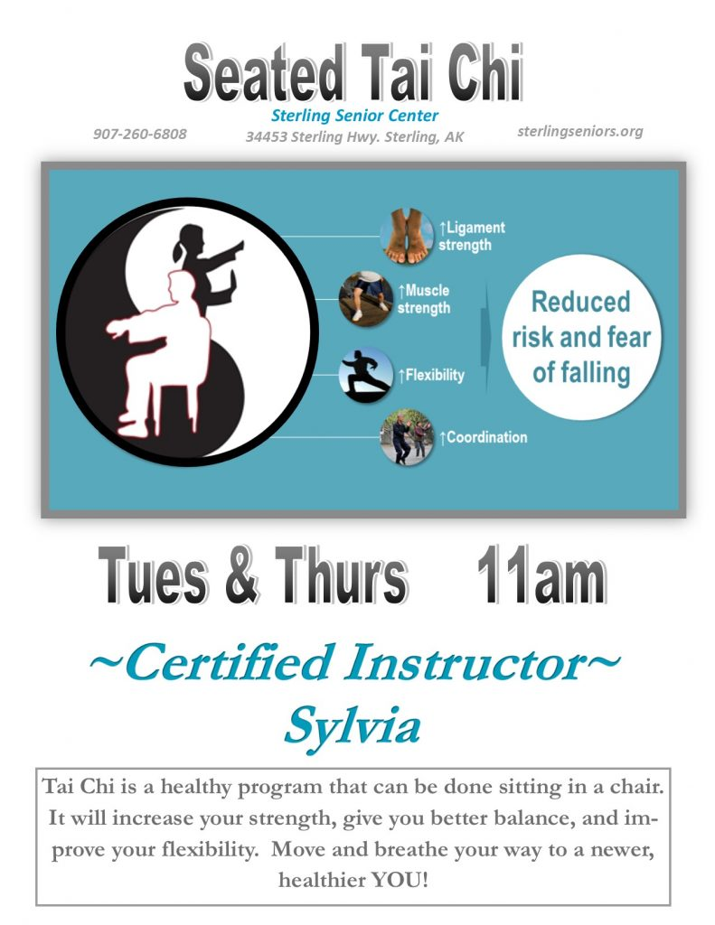 Seated Tai Chi Tues & Thurs with Instructor Sylvia